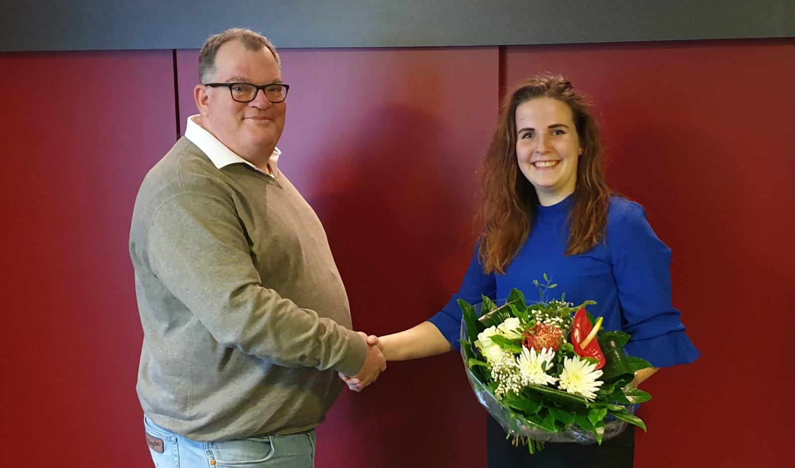 Verzorgster Laura verbindt zich weer een jaar aan SV Haarle