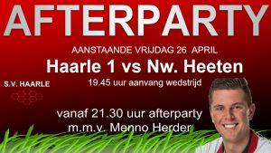Afterparty vrijdag 26 april